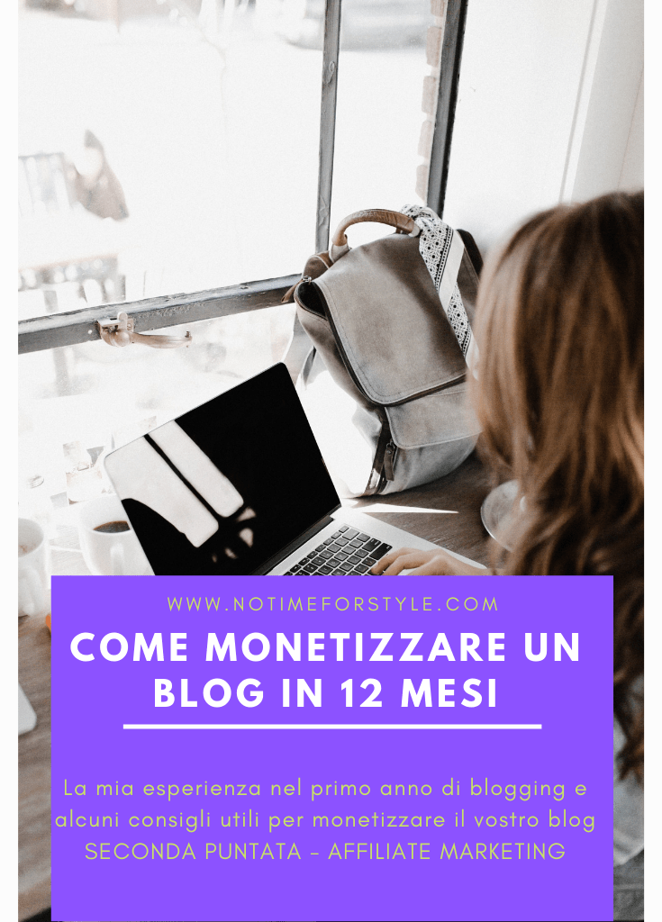 Monetizzare un blog in 12 mesi / 2
