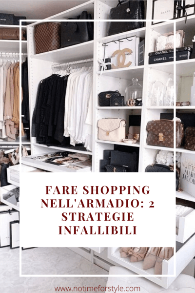 come fare shopping nell'armadio