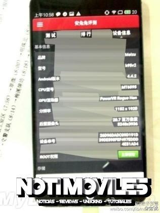 Meizu MX3S con MT6595 Según Imagen Filtrada de  Antutu