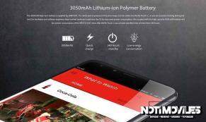Ulefone be touch 2 cuenta con bateria de 3050 mAh