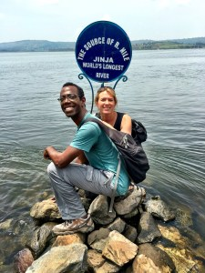 Couple at the source of the Hile in Uganda