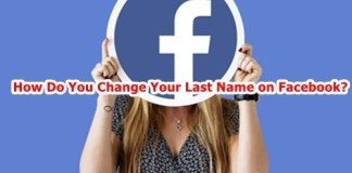 How do you change your last name on Facebook