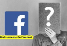Block someone On Facebook Page