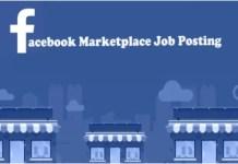 Facebook Marketplace Job Posting