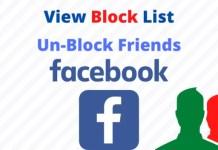 Blocked Facebook List