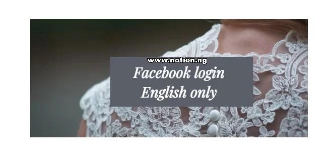 English in facebook www login Q&A: How