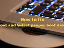 Reboot and Select Proper Boot Device Error in Windows