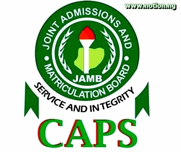 JAMB CAPS 2021