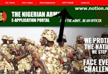 Nigerian Army Shortlist