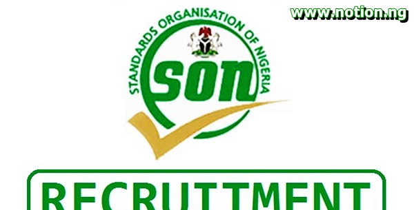 Standard Organization of Nigeria Recruitment