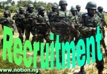 Nigerian Army DSSC Recruitment 2021