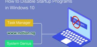 Disable Start Up Programs In Windows 10