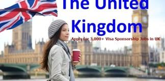 Visa Sponsorship Jobs in United Kingdom