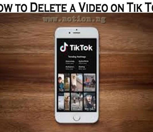 How To Delete A Video On Tik Tok