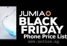 Jumia Black Friday Phone Price List