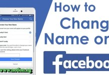Change Name on Facebook Account