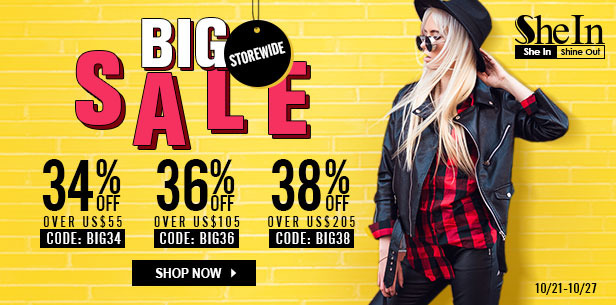 New discounts at Shein!