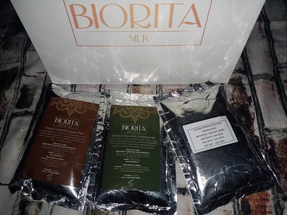 Vopsea cu Henna de la Biorita și șampon din plante