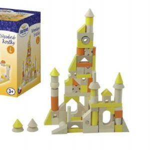 Teddies 59663 Kostky dřevěné L 96 dílků v krabici 12x18x12cm