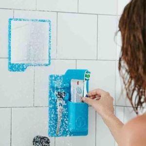 Držák hygienických potřeb - modrá