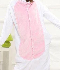 Zvířecí overal - růžový jednorožec - XL