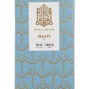 Single origin čokoláda z Haiti. Ostrov poničený tragickým zemětřesením zachraňuje mimo jiné pěstování kvalitního kakaa.Tato čokoláda vás potěší skvělou chutí a dobrým pocitem