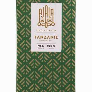 Single origin čokoláda z Tanzanie.Každá single origin čokoláda je chuťový originál. Jedinečnou a neopakovatelnou chuť jí zaručují ty nejkvalitnější kakaové boby pocházející vždy z jediného regionu.V čokoládách z Tanzanie ucítíte podtóny lesního ovoce