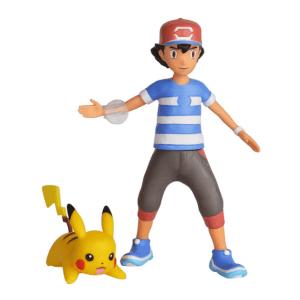 Pokémon akční figurky Ash a Pikachu 11 cm