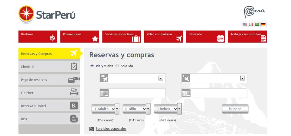 Star Perú implementa servicio de Web Check In para sus pasajeros