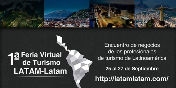 Empezó la primera Feria virtual de turismo LATAM-Latam