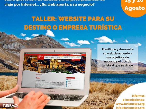 TurismoTec Taller: Website para su destino o empresa