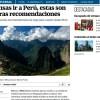 El Universal de México: recomendaciones de viaje si piensas visitar el Perú