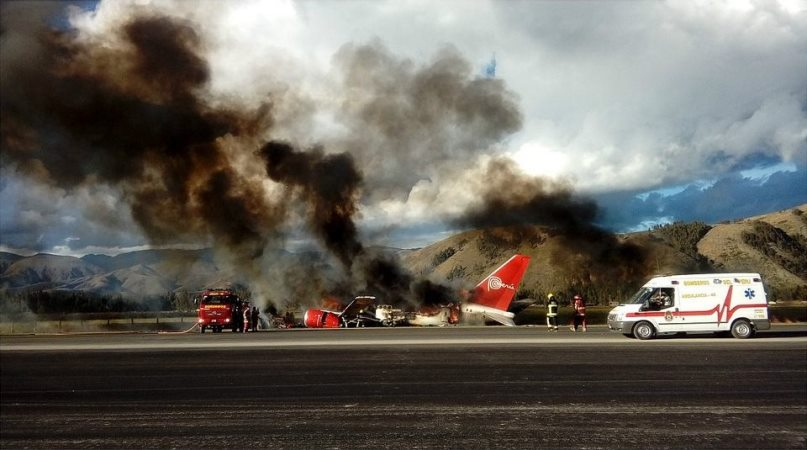 Corpac suspendió vuelos en aeropuerto de Jauja tras accidente de Peruvian