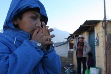 Sierra sur: Las temperaturas pueden alcanzar los 20 grados bajo cero en zonas altas