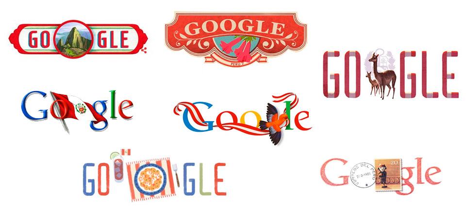 Doodles de Google que celebran las fiestas patrias de Perú