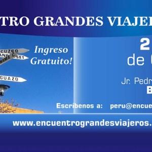 Primer Encuentro Grandes Viajeros Perú