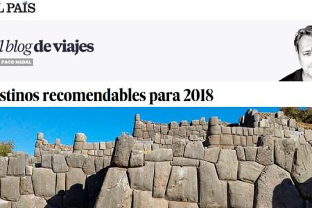 Perú entre los 12 destinos turísticos recomendables para viajar el 2018