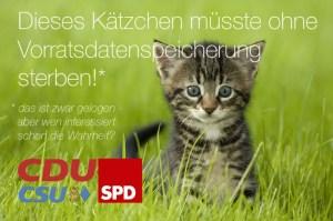 Vorratsdatenspeicherung Katze