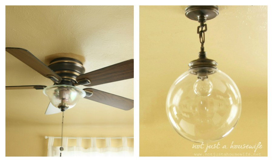 Ceiling Fans VS  Light Fixtures   Stacy Risenmay So for that reason  and to appease my hubby  I started to look around for  other options  I wanted whatever we got to replace the ceiling fan to be  pretty