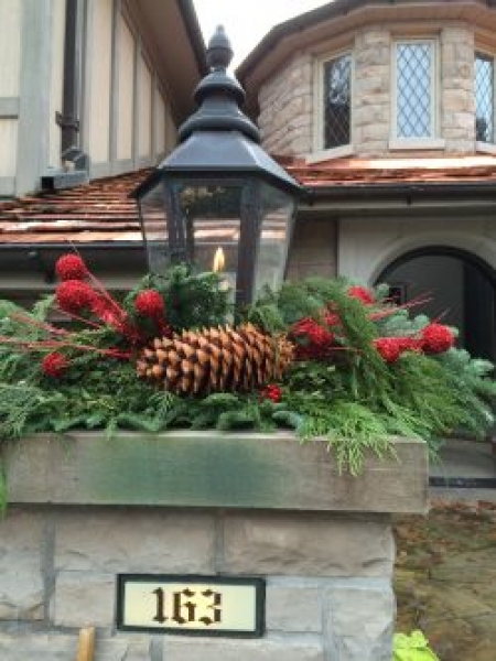 exterior styling | decorative house number, custom planter