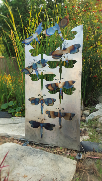 garden sculpture | metal butterflies