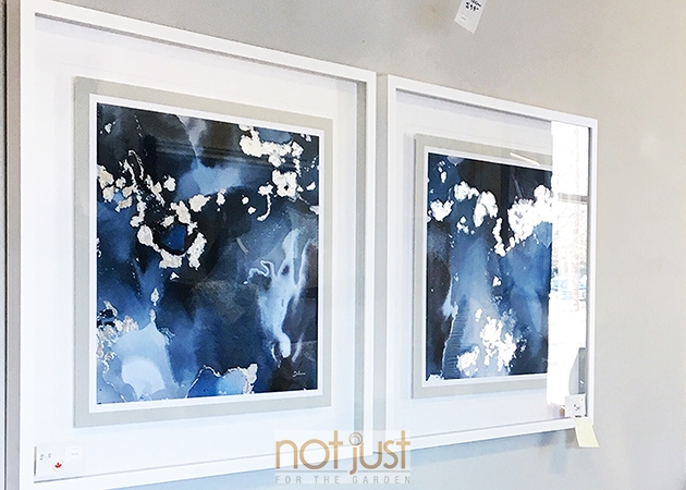 Blue painting, artwork, wall art, home decor