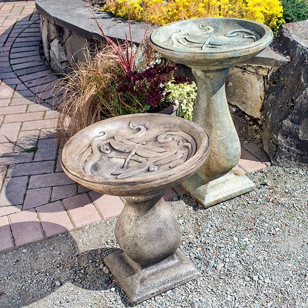 garden sculptures | stone bird baths