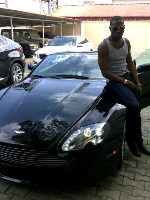 IMG 20111029 00148 Picture: Dbanj Unleashes New Aston Martin Vantage Car