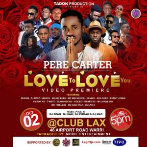 Hyping: Pere Carter Premiere Video at Club Lax – Love To Love You