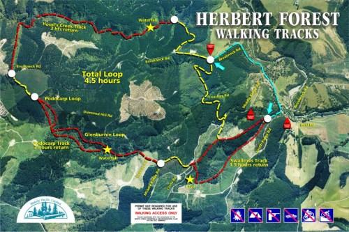 Herbert Walking Tracks Map 2012 -14