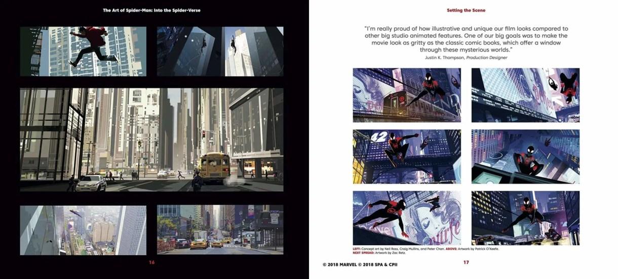 spiderman into the spider verse artbook