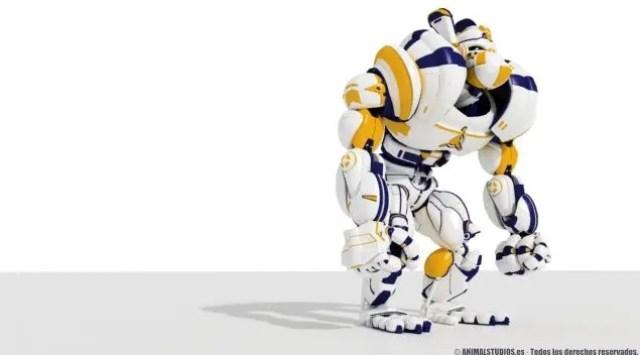 Gorilla 2.0. Animacion 3d Robot