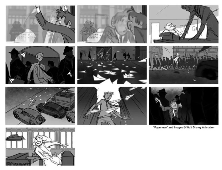 El Arte de Paperman - Making of, Storyboard, Diseño & Concept Art