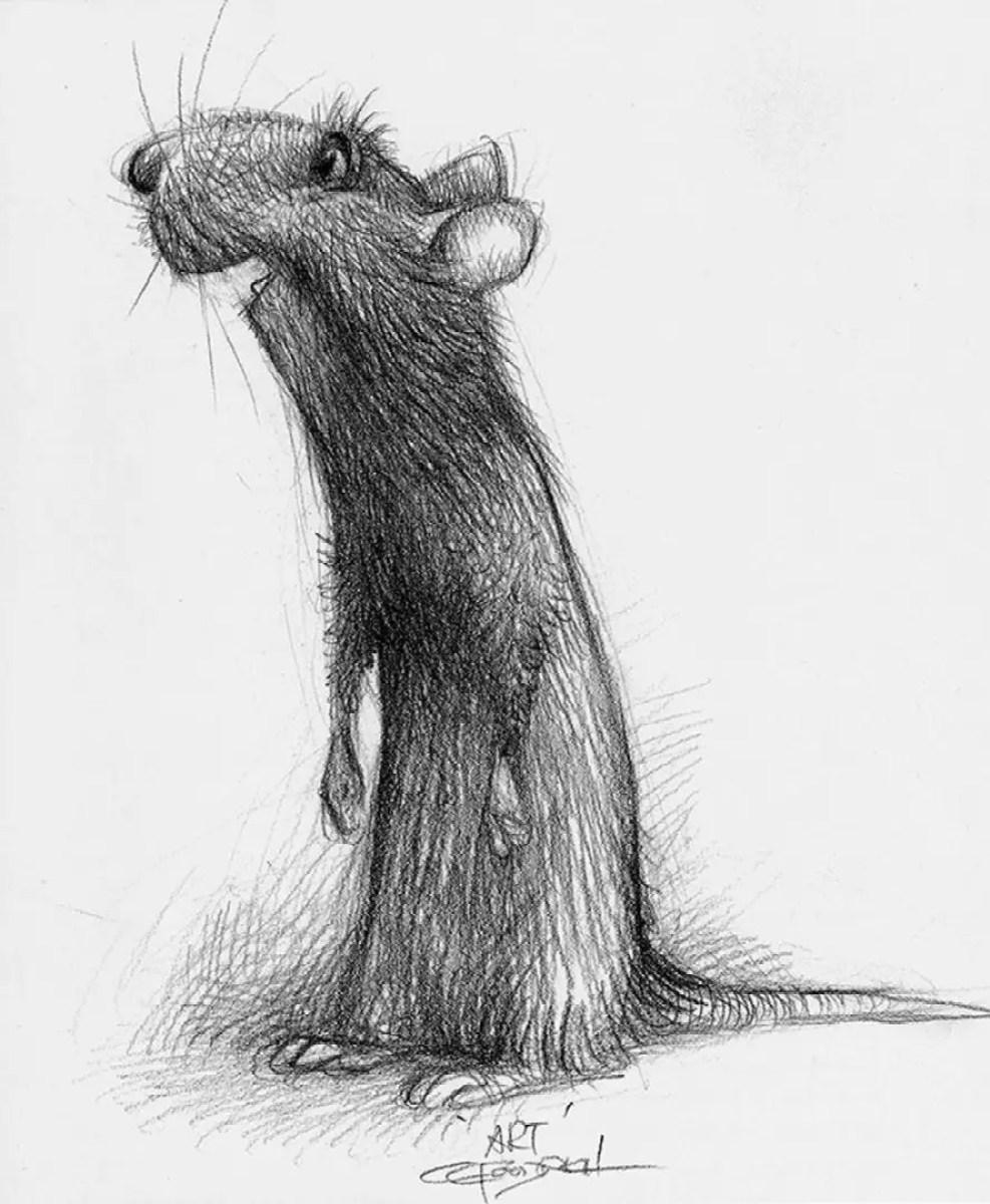 el arte de ratatouille diseño de personajes